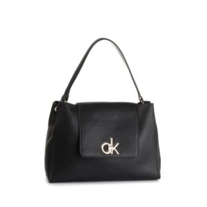 Calvin Klein Re-Lock Top Handle Satchel Black-0