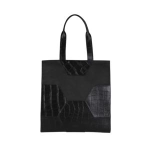 MYOMY My Treasure Bag Long Handle Croco Black-0