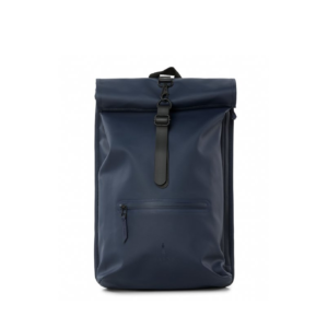 RAINS Roll Top Backpack Blue-0