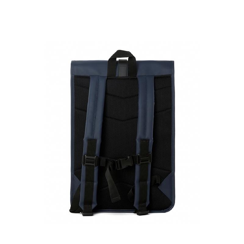 RAINS Roll Top Backpack Blue-165862