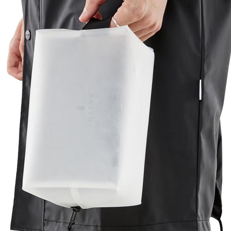 RAINS Wash Bag Small Foggy White-166046