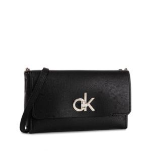 Calvin Klein Re-Lock Flap Crossbody Black-0