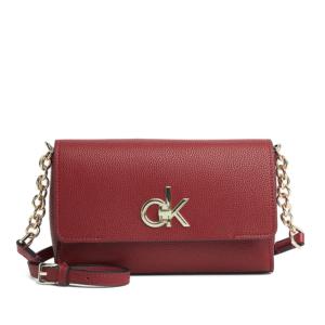 Calvin Klein Re-Lock Flap Crossbody Red-0