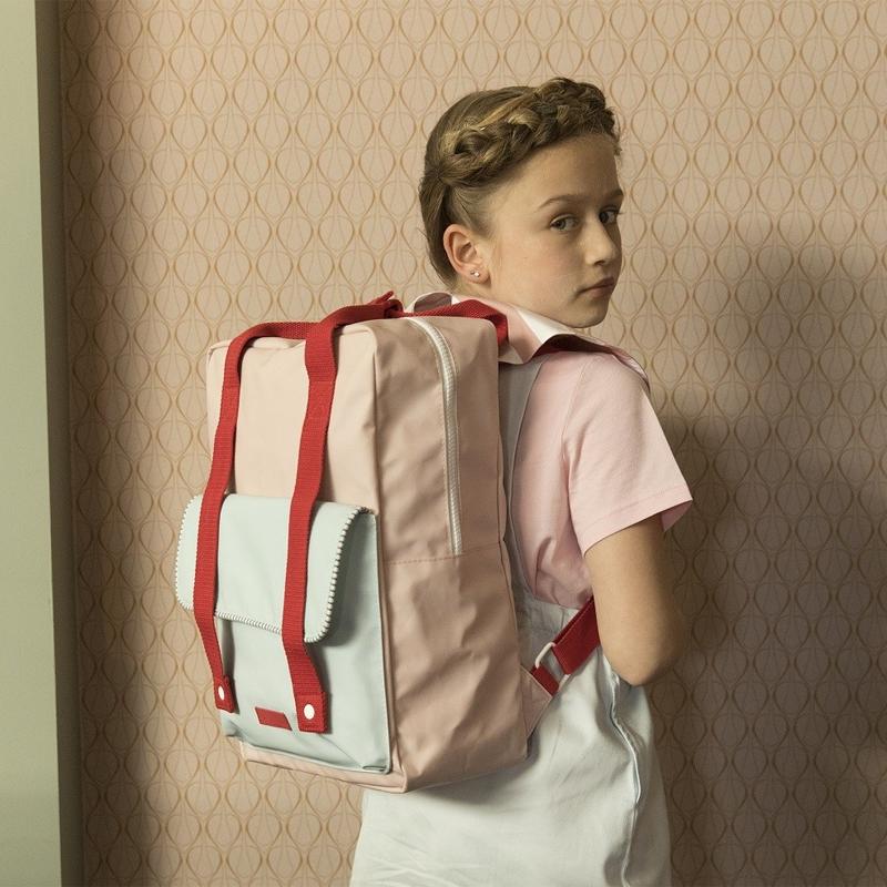 Sticky Lemon Backpack Deluxe Large Mendl's Pink/Agatha Blue/Elevator Red-167946