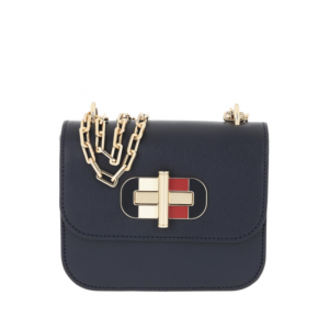 Tommy Hilfiger Turnlock Mini Crossbody Bag Sky Captain