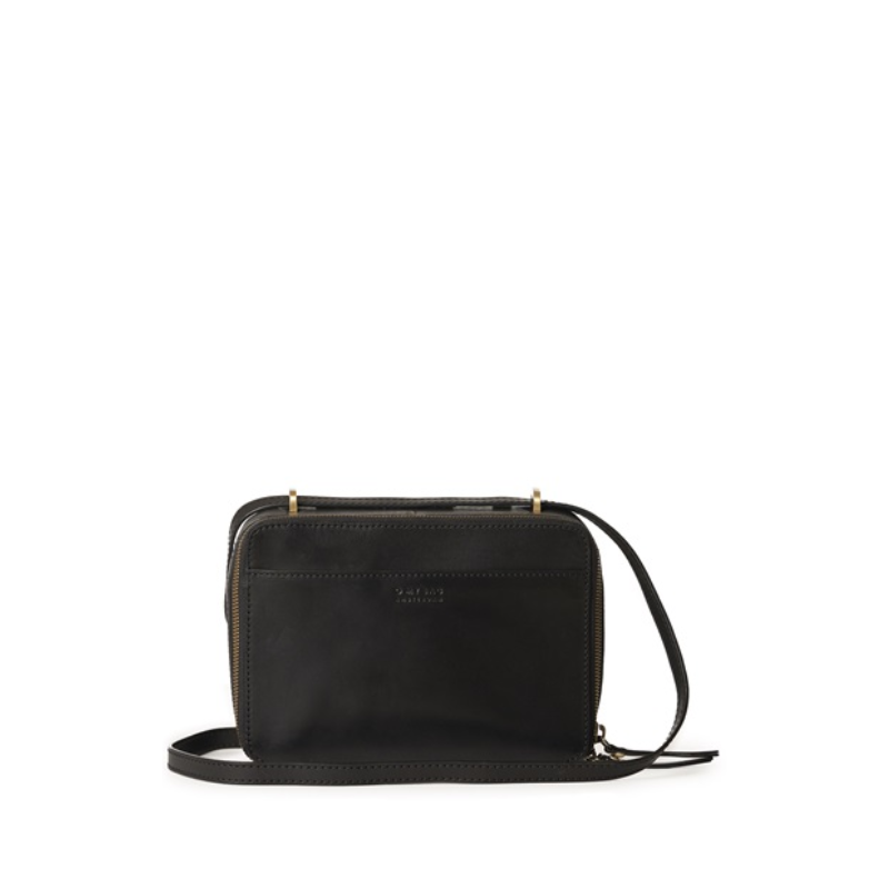 O My Bag Bee's Box Bag Black Classic Leather-170130