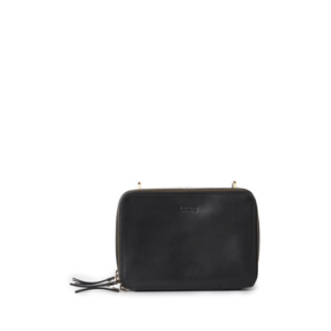 O My Bag Bee's Box Bag Black Classic Leather-0