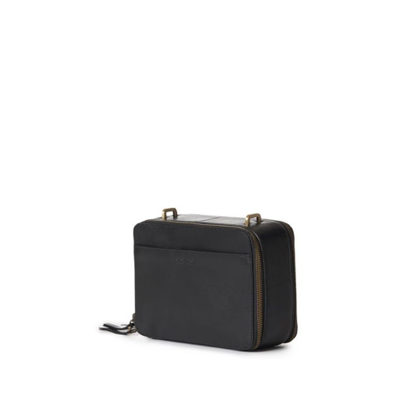 O My Bag Bee's Box Bag Black Classic Leather-170131
