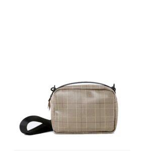 RAINS Check Box Bag Check Beige-0