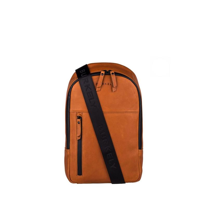"Burkely Rain Riley Bodypack 9,7"" Corroded Cognac-0"