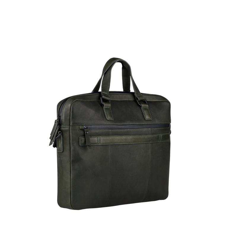 "Burkely Rain Riley Laptopbag 15,6"" Oil Green-170414"