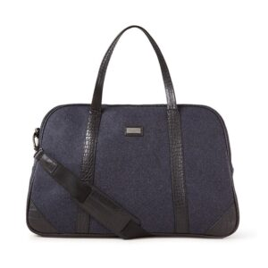 Ted Baker Masher Wool Holdall Navy-0
