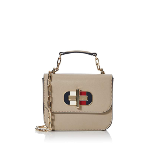 Tommy Hilfiger Turnlock Mini Crossbody Bag Light Taupe