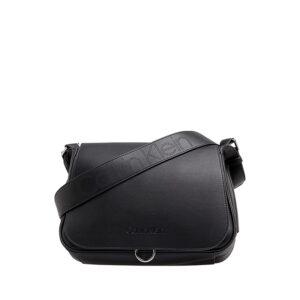 Calvin Klein Punched SML Satchel Bag Black-0