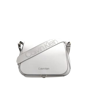 Calvin Klein Punched SML Satchel Bag White-0