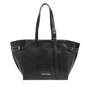 Calvin Klein Winged Med Shopper Black