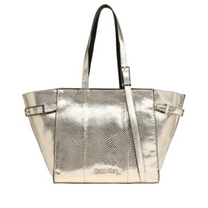 Calvin Klein Winged Med Shopper Gold