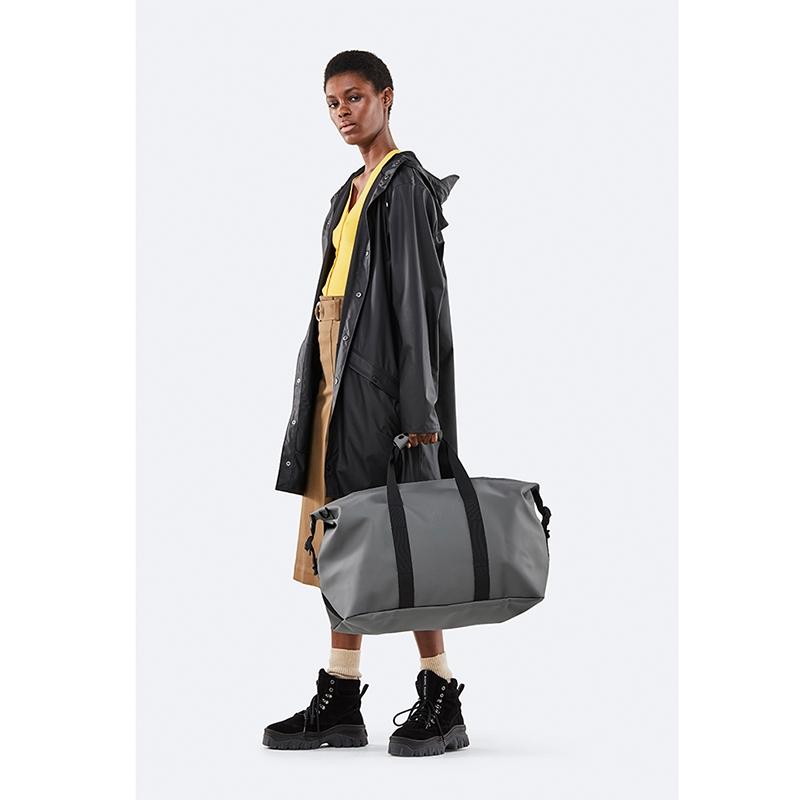 RAINS Weekend Duffel Bag Charcoal-172253