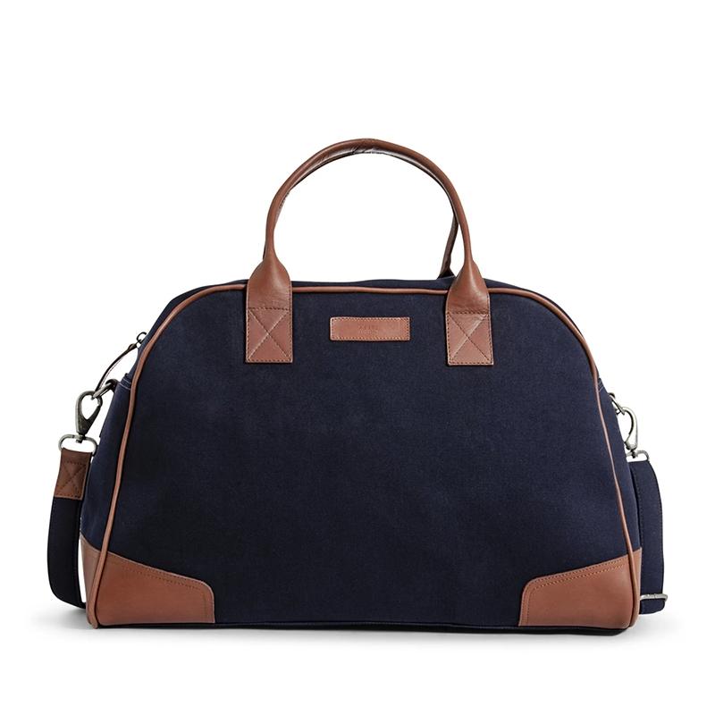 Still Nordic Just Weekendbag Navy/Cognac-0
