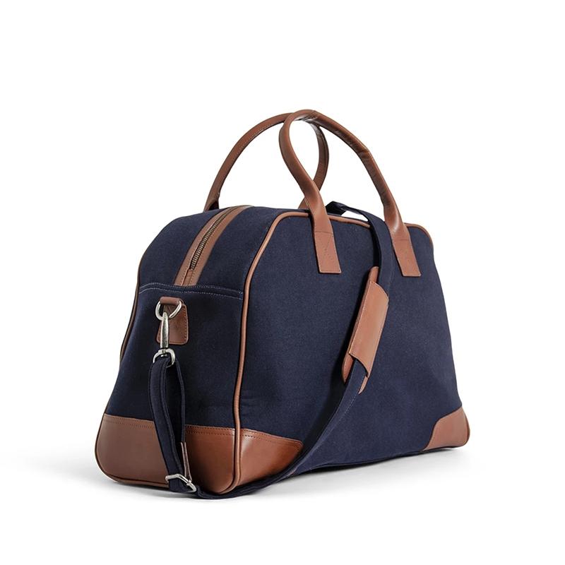 Still Nordic Just Weekendbag Navy/Cognac-172587