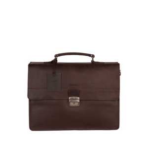 Burkely Vintage Dean Briefcase Brown-0