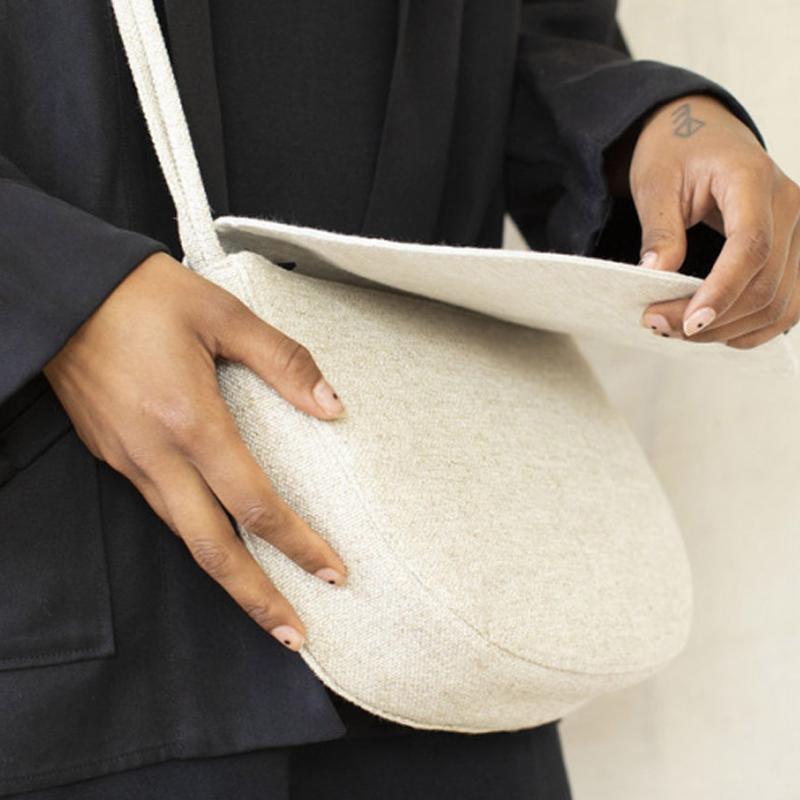 Monk & Anna Soma Half Moon Bag Linen-174901