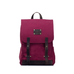 O My Bag Mau's Backpack Burgundy Waxed Canvas-0