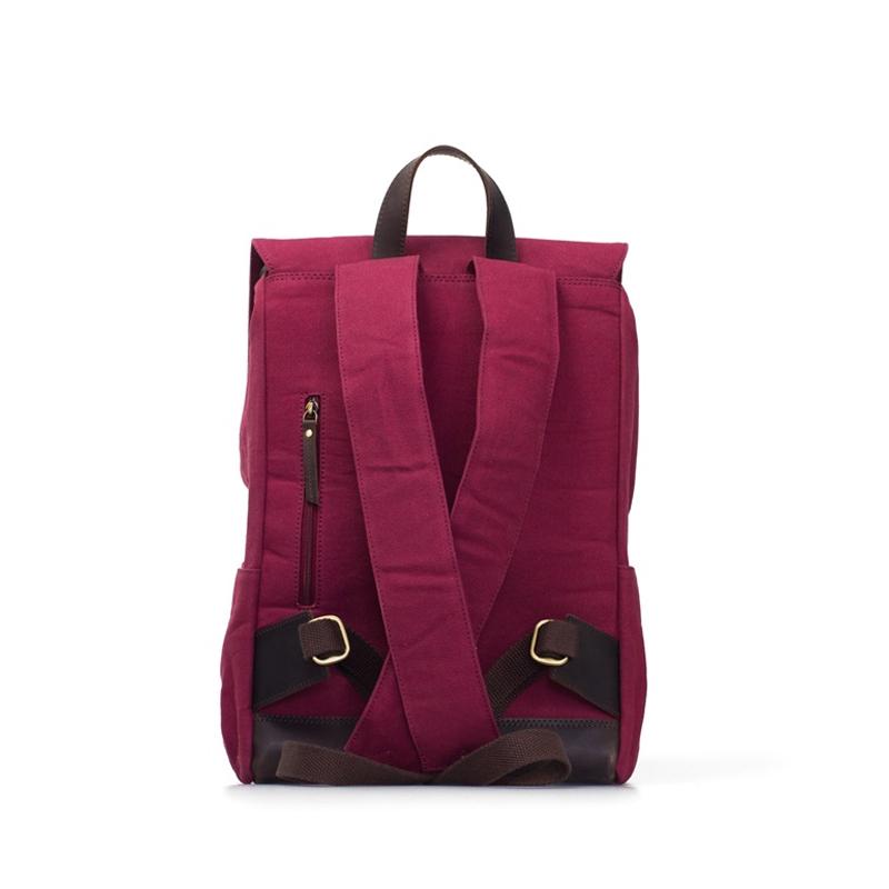 O My Bag Mau's Backpack Burgundy Waxed Canvas-174510