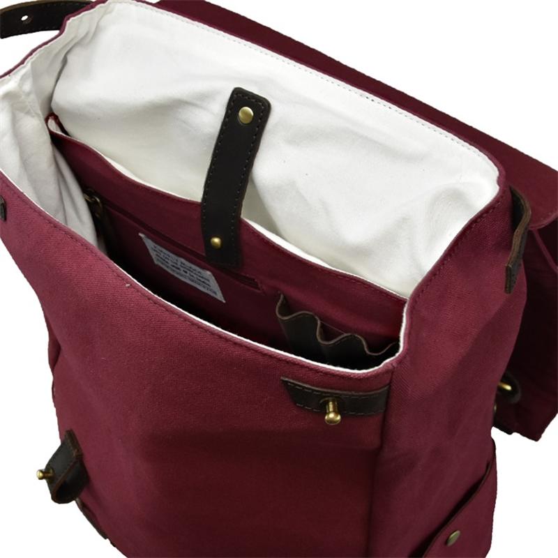 O My Bag Mau's Backpack Burgundy Waxed Canvas-174512
