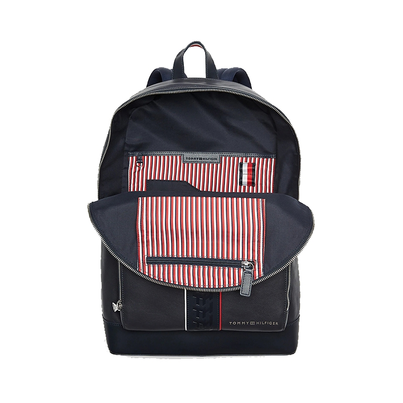 Tommy Hilfiger Leather Backpack Stripe Sky Captain-175339