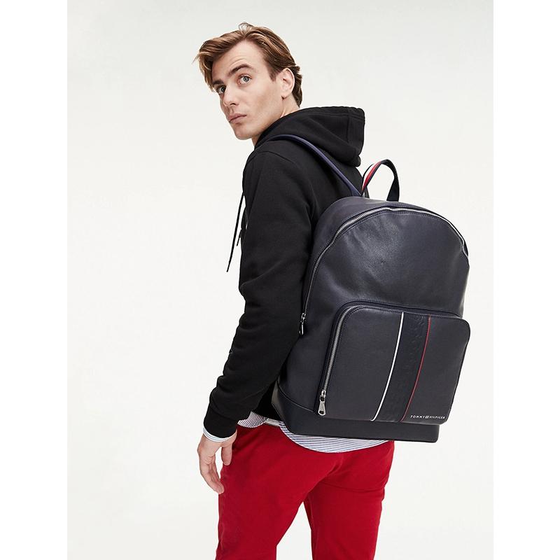 Tommy Hilfiger Leather Backpack Stripe Sky Captain-175341