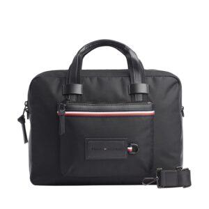 Tommy Hilfiger Modern Nylon Computer Bag Black-0