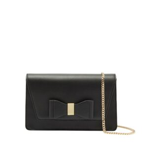 Ted Baker Keeiira Bow Leather Evening Bag Black-0