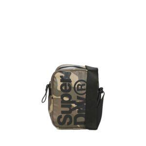 Superdry Side Crossbody Bag Green Camo Tarp