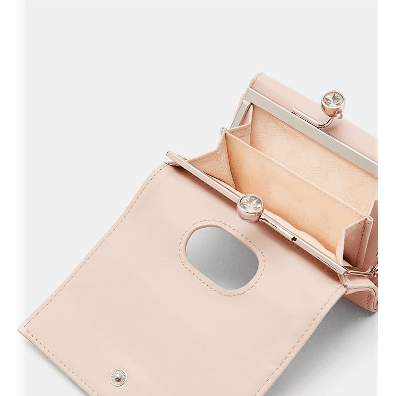 Ted Baker Crystal Mini Bobble Purse Taupe-179076