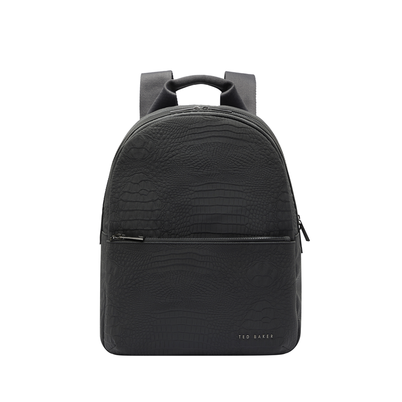 Ted Baker Reflective Croc Nylon Backpack Black-0