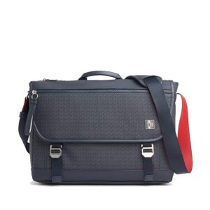 Tommy Hilfiger Coated Canvas Messenger Bag Navy Monogram