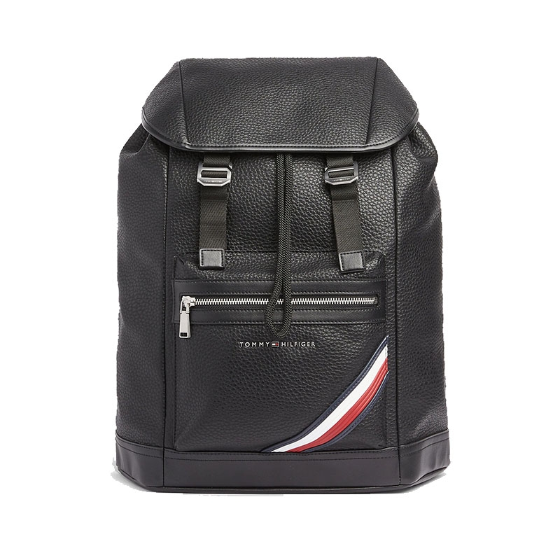 Tommy Hilfiger TH Downtown Flap Backpack Black-0