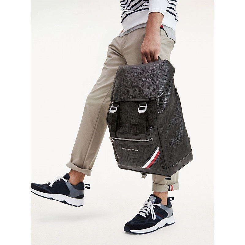 Tommy Hilfiger TH Downtown Flap Backpack Black-175819