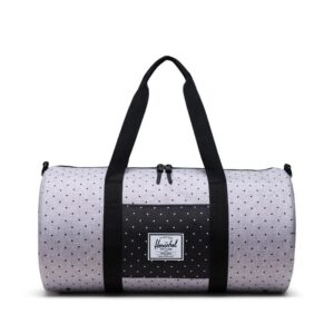 Herschel Mid Volume Dufflel Polka Dot Crosshatch Grey/Black-0