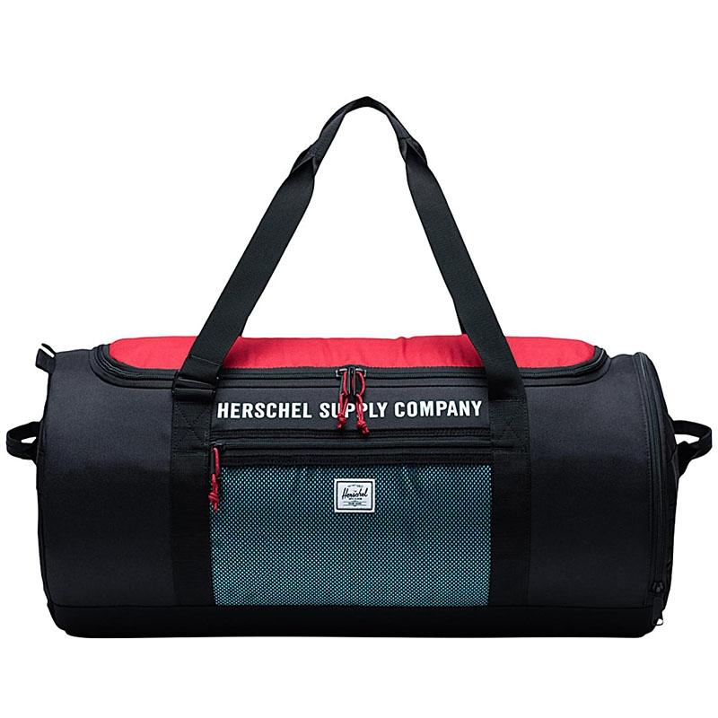 Herschel Sutton Carryall Black/Red/Bachelor Button-0