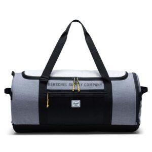 Herschel Sutton Carryall Mid Grey Crosshatch/Light Grey Crosshatch/Black-0