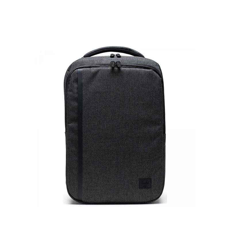 Herschel Travel Daypack Black Crosshatch-0