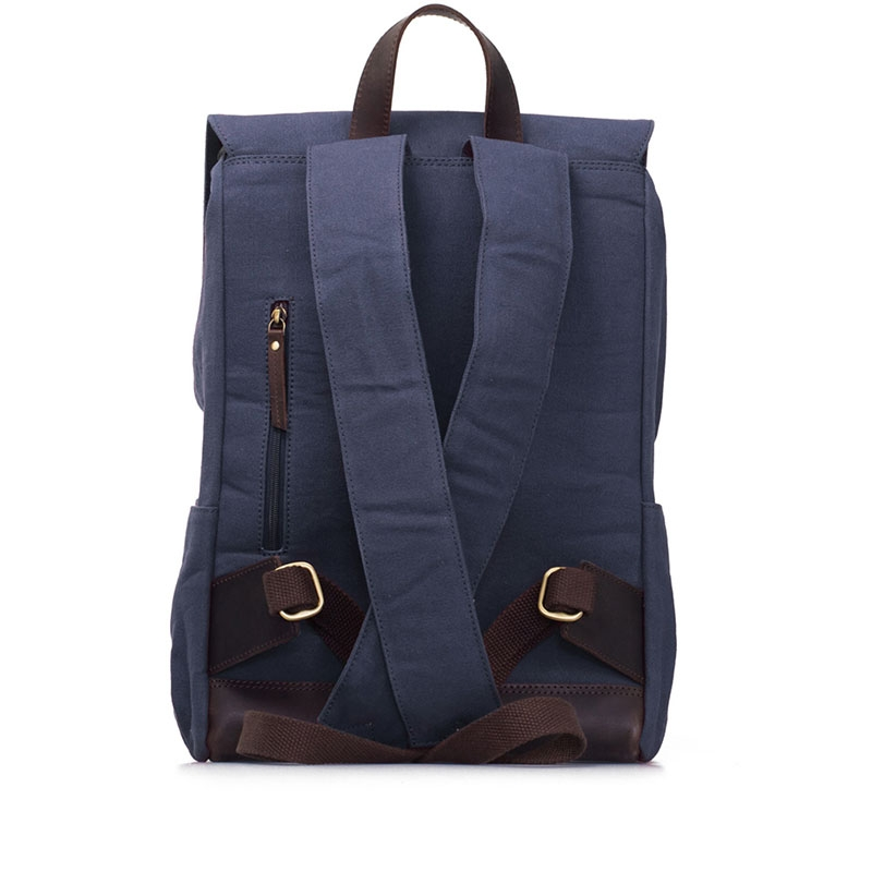 O My Bag Mau's Backpack Navy Waxed / Dark Brown Hunter-179145
