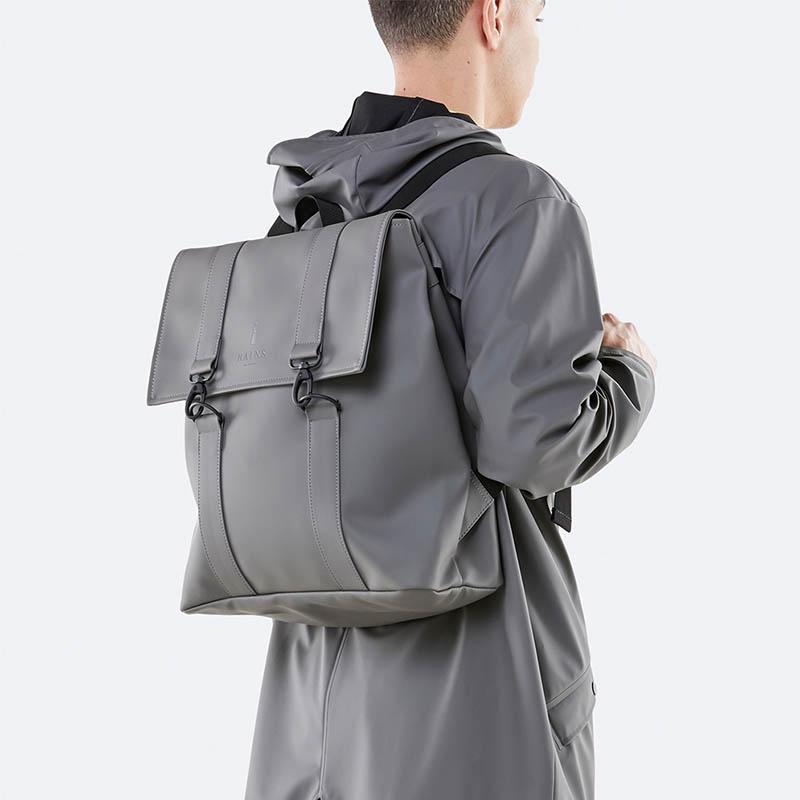 RAINS Msn Bag Charcoal-176140