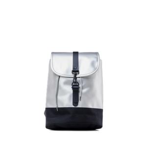 RAINS Drawstring Backpack Silver-0