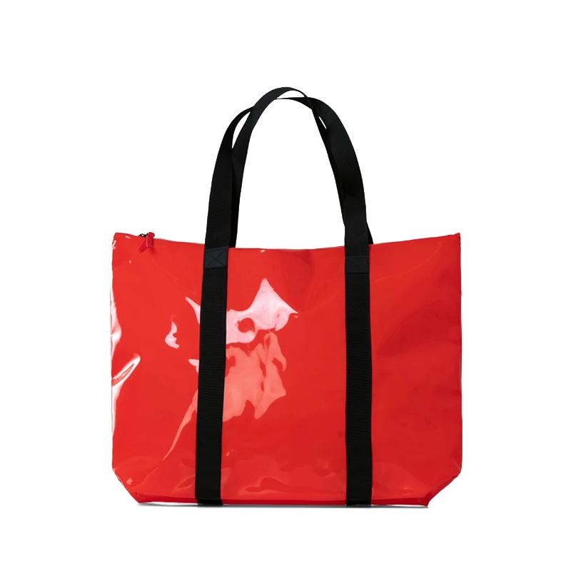 RAINS Transparent Tote Bag Red-0