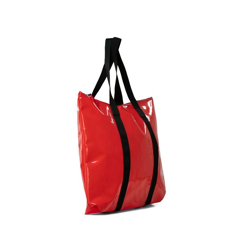 RAINS Transparent Tote Bag Red-176348