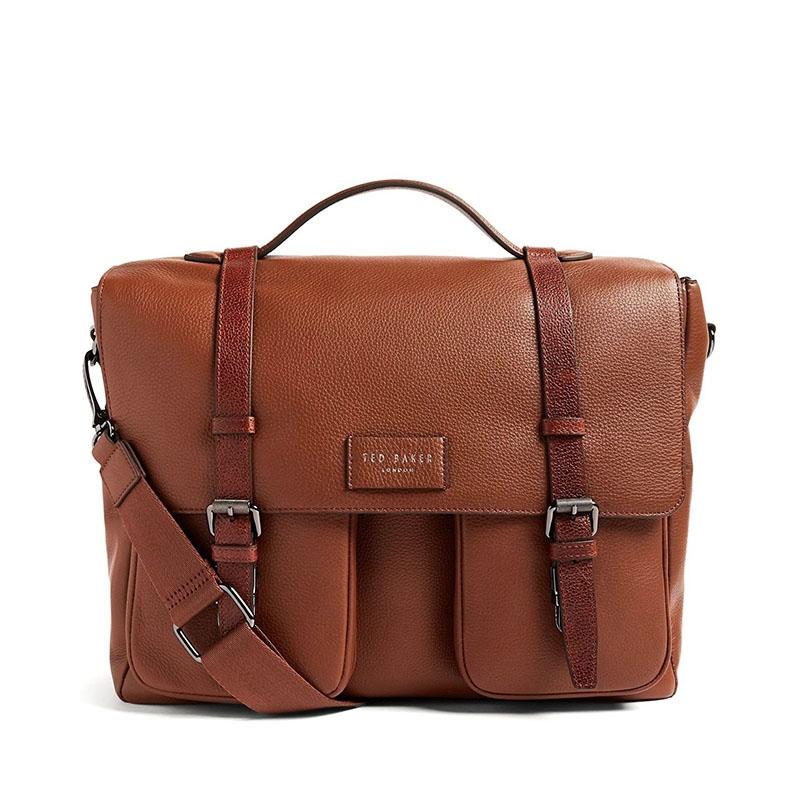 Ted Baker Finlie Leather Document Bag Tan-0