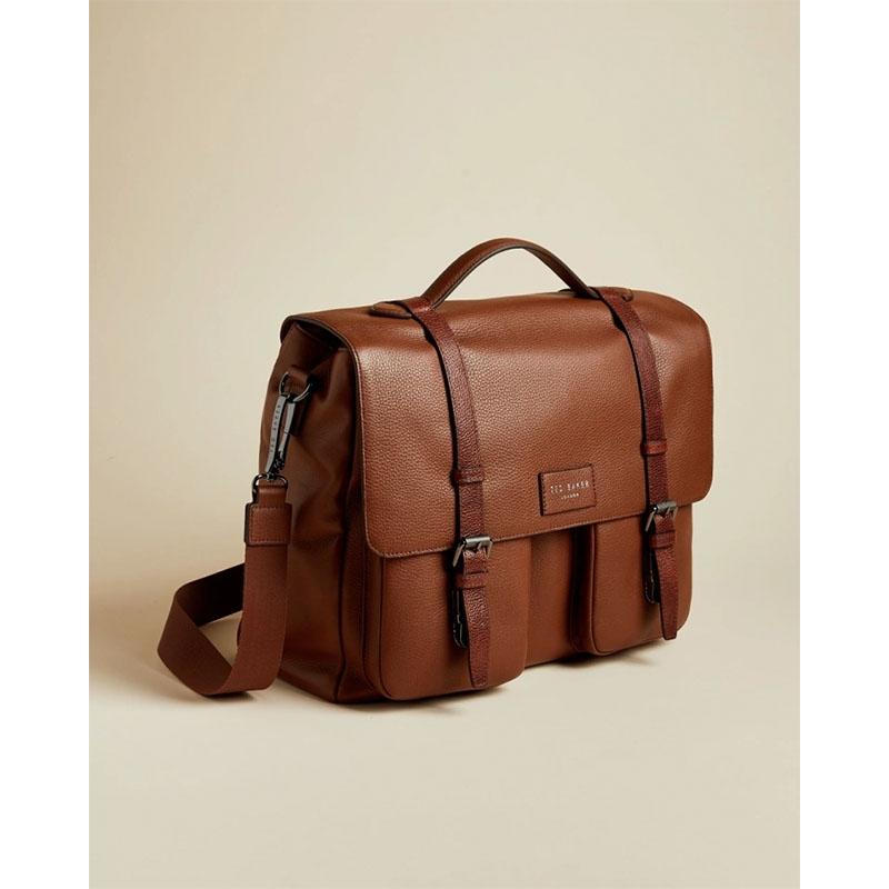 Ted Baker Finlie Leather Document Bag Tan-179208
